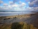 la plage par grand vent