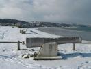 La plage sous la neige